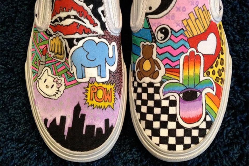 960x640 Drawn Shoe Vans Logo