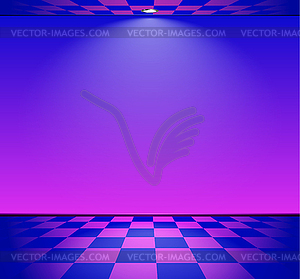 300x279 80s Styled Vapor Wave Room With Blue And Purple Wal