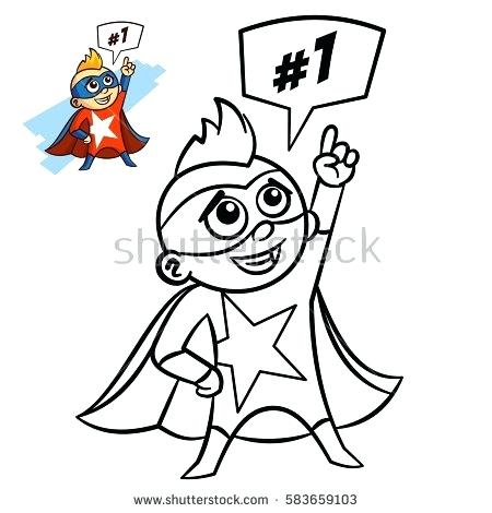 450x470 Boy Coloring Book Superhero Boy Coloring Book Comic Character
