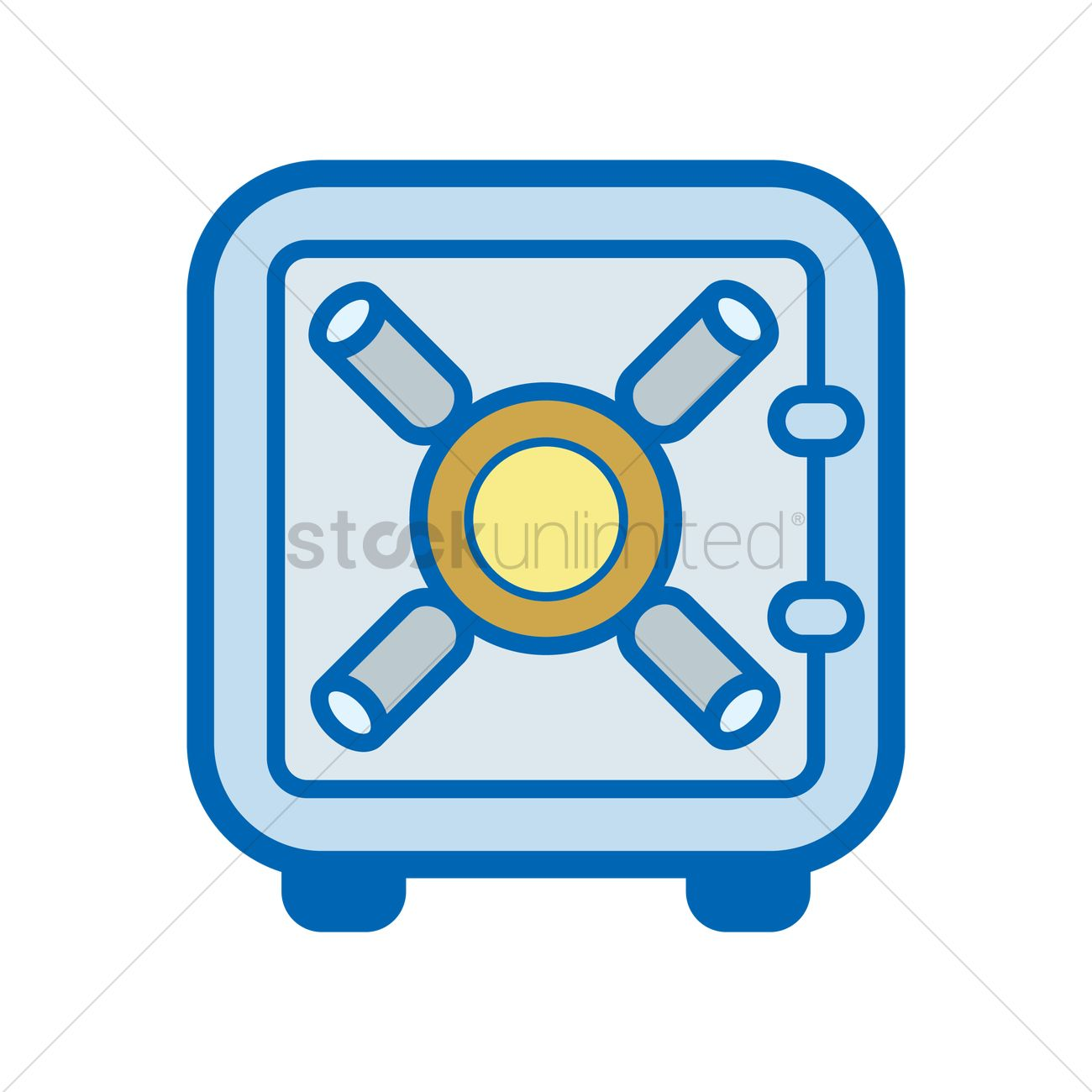 1300x1300 Free A Security Vault Vector Image
