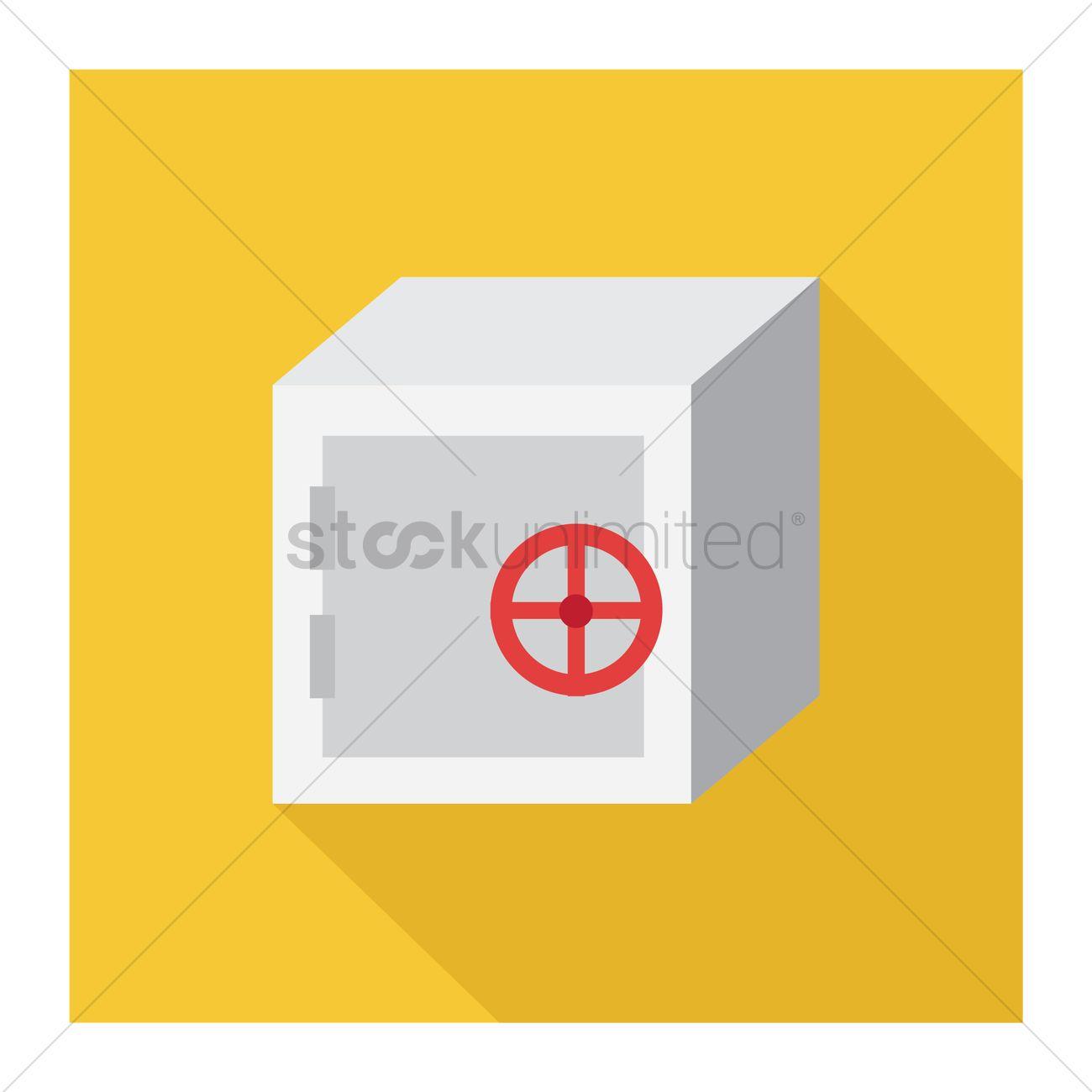1300x1300 Free Safety Deposit Vault Vector Image