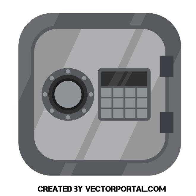 660x660 Metal Vault Vector Image