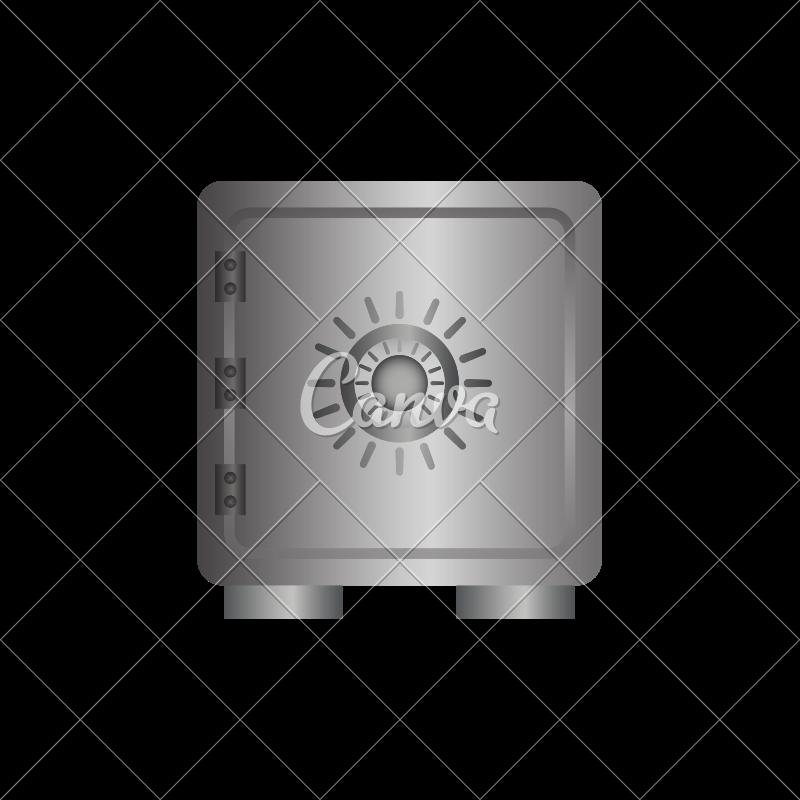 800x800 Safe Vault Vector