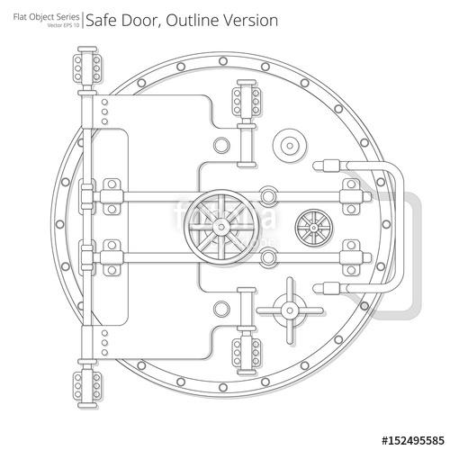 500x500 Safe And Vault Door. Vector Illustration Of A Safe And Vault Door