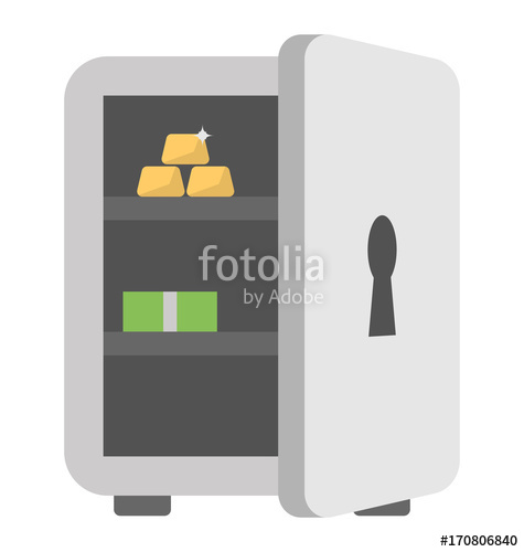 475x500 Bank Vault Vector Icon Stock Image And Royalty Free Vector Files