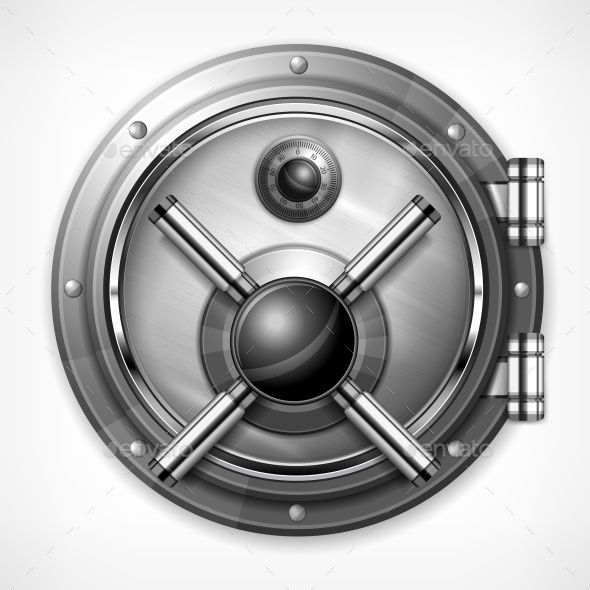 590x590 Bank Vault On White Fonts Logos Icons Vaulting