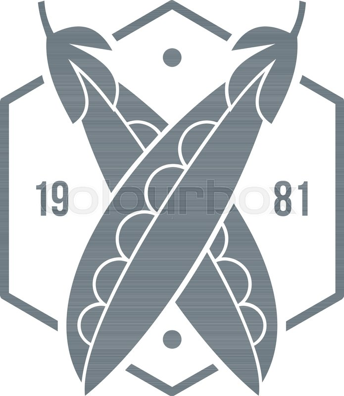 695x800 Eco Peas 1981 Logo. Simple Illustration Of Eco Peas 1981 Vector