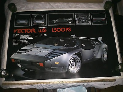 400x300 Vector W2 Twin Turbo Vintage Extremely Rare Poster From Germany