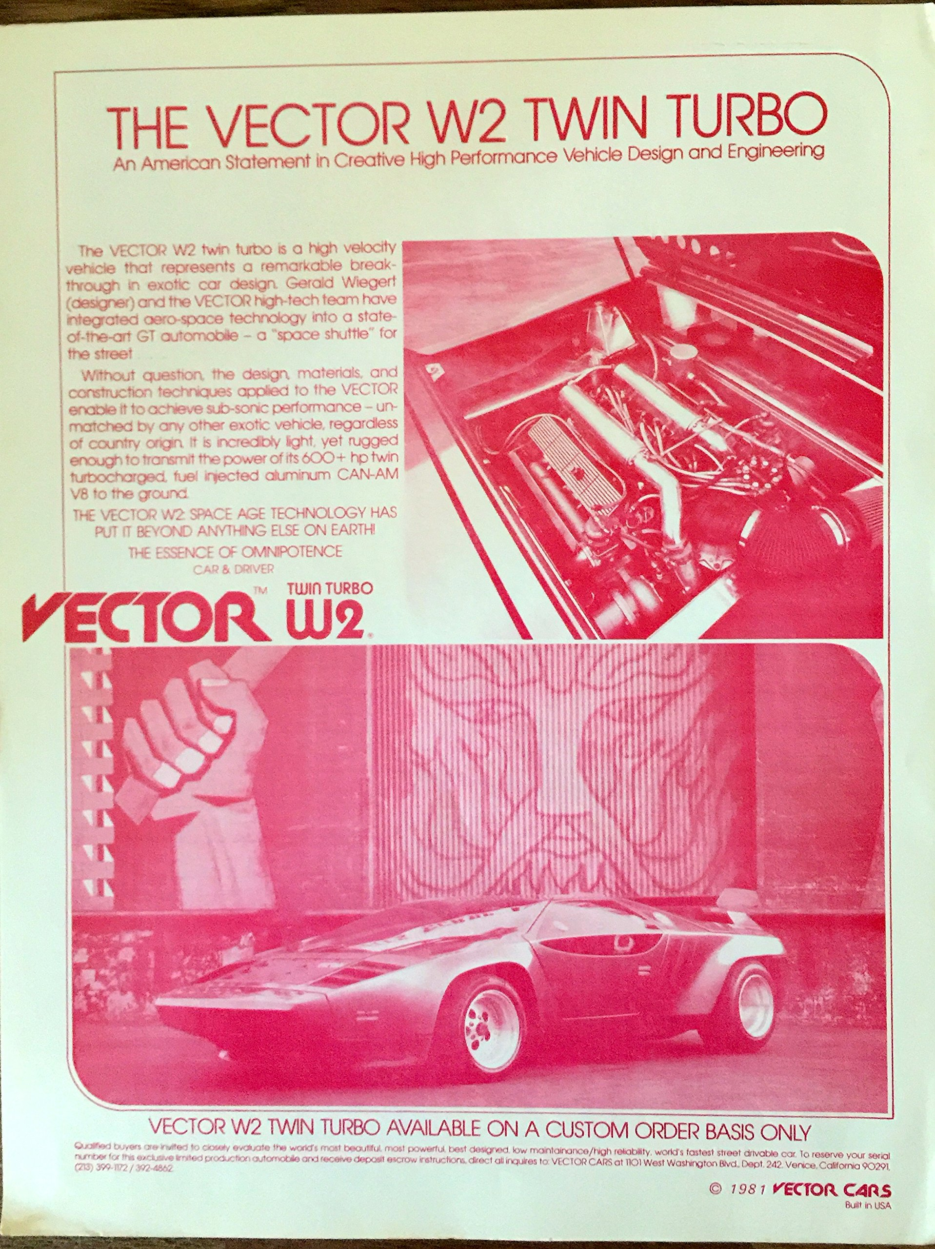 1917x2560 1981 Vector W2 Twin Turbo Sales Brochure Vector Cars