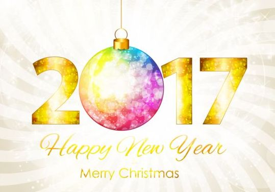 539x376 2017 New Year With Christmas Decor Background Vector 04 Free Download