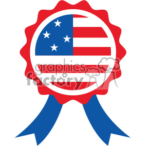 300x300 Royalty Free 4th Of July Award Ribbon Vector Icon 403800 Vector