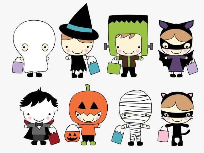 650x488 Halloween Character, Halloween, Cute Cartoon Characters, 8 Little