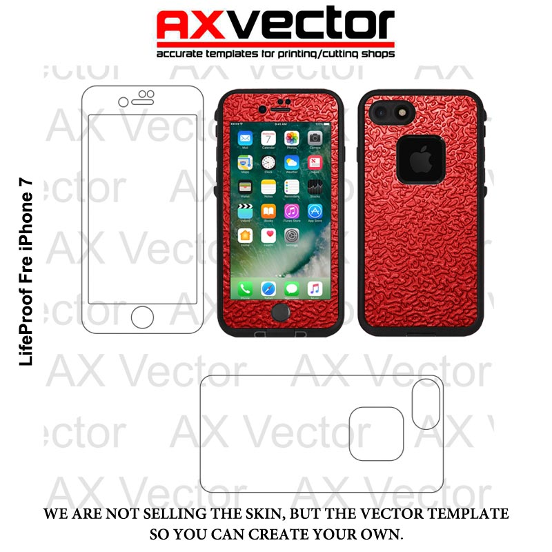 800x800 Lifeproof Fre Iphone 7 And 8 Vector Template, Vector Contour