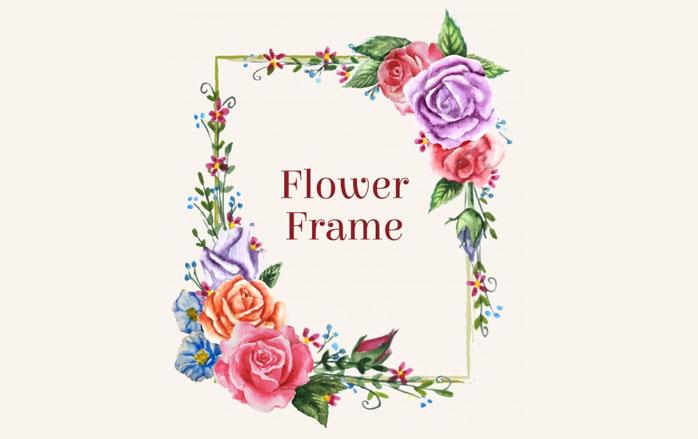 698x439 8 Free Flower Frame Vector Wooosh