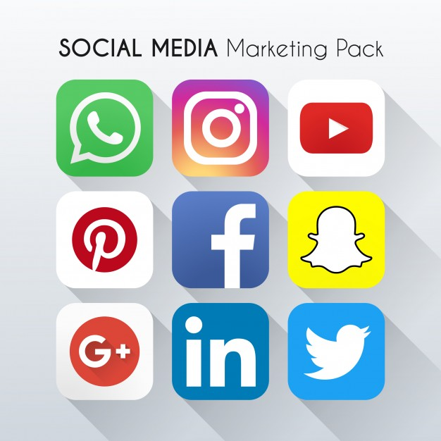 626x626 9 Social Networking Vector Free Download