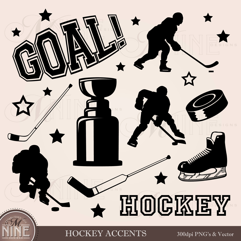 3000x3000 Hockey Clipart Digital Hockey Clip Art Hockey Scrapbook Etsy