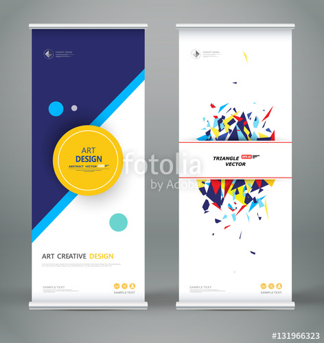 472x500 Abstract Roll Up. Brochure Cover Design. Creative Round Text Frame