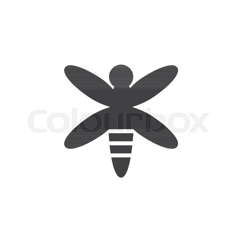 800x800 Dragonfly Vector Icon. Filled Flat Sign For Mobile Concept And Web