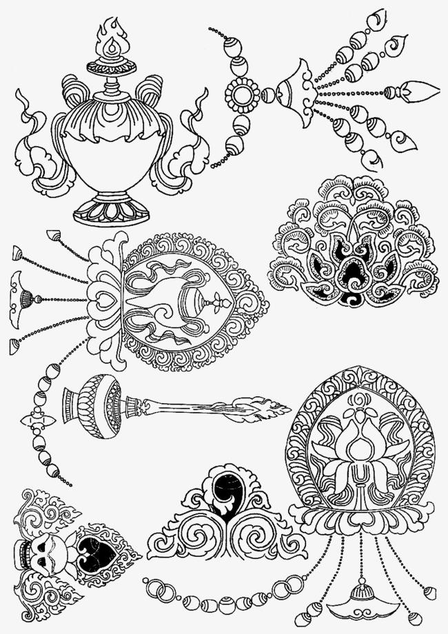 650x920 Tibetan Religious Element Vector, Adder, Religion Vector, Tibetan