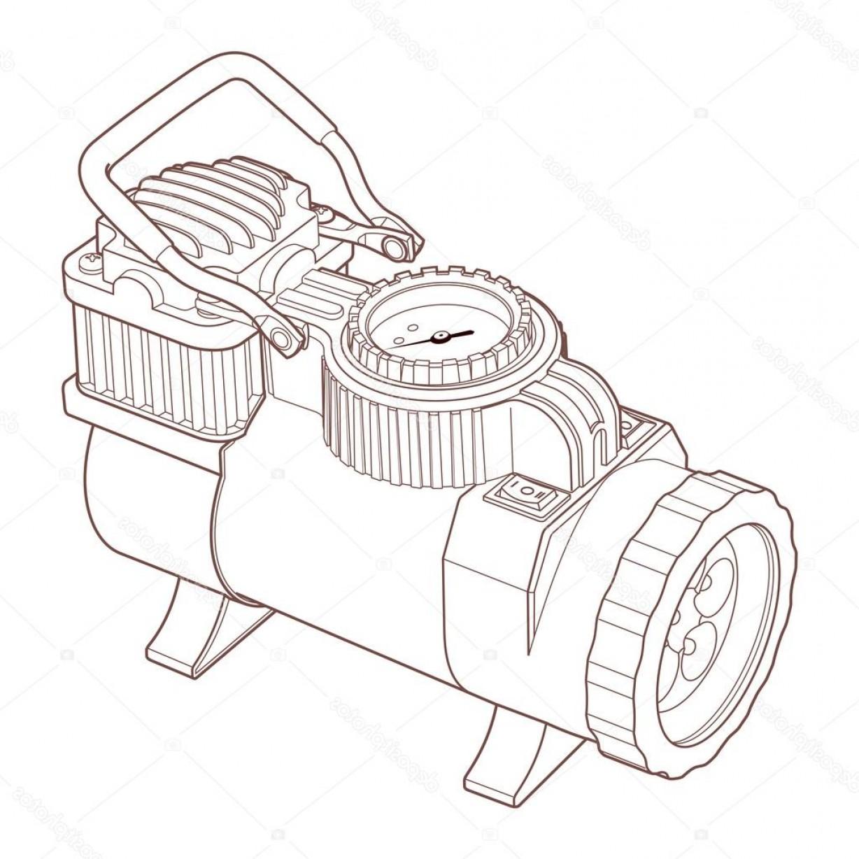 1228x1228 Stock Photo Portable Car Air Compressor Vector Arenawp