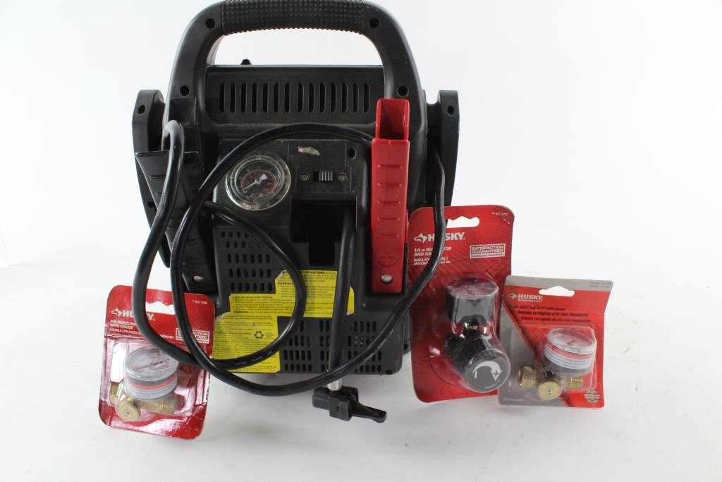 1024x683 Vector Jump Starter And Air Compressor And Air Adjusting Valve