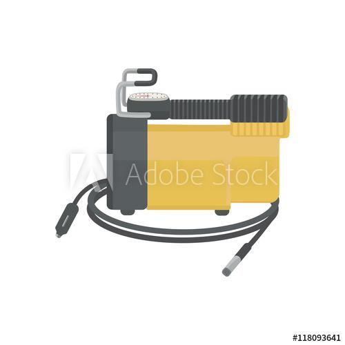 500x500 Air Compressor For Car. Vector Illustration.