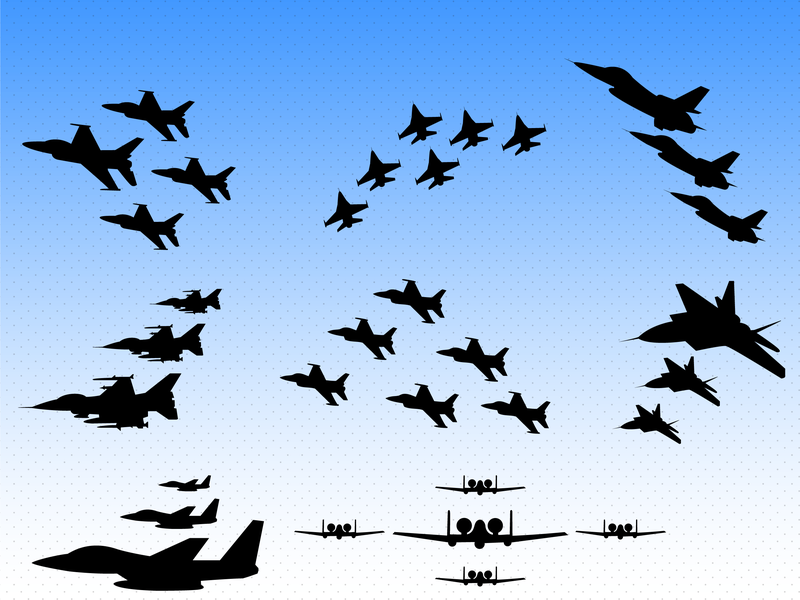 800x600 F16 Fighter Aircraft Air Show Vector Aircraft Vector Ai Us Air