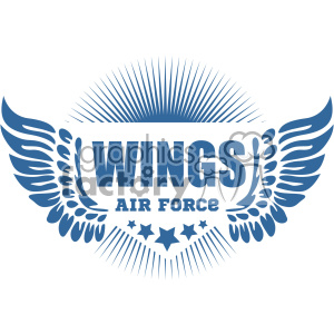 300x300 Royalty Free Air Force Wings Vector Logo Template 403264 Vector