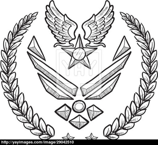 512x470 Us Air Force Vector Insignia Vector
