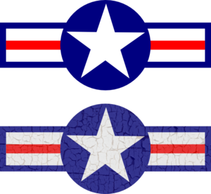 300x276 Air Force Stripes And Star Clip Art