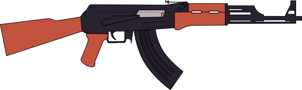 1024x306 Ak 47 Assault Rifle Vector By Jsoftentertainment