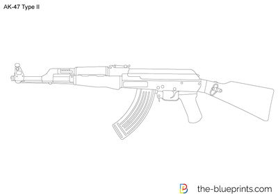 400x283 Ak 47 Type Ii Vector Drawing