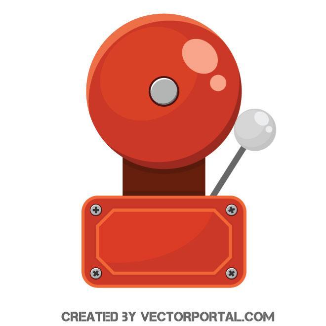 660x660 Fire Alarm Bell Vector Graphics