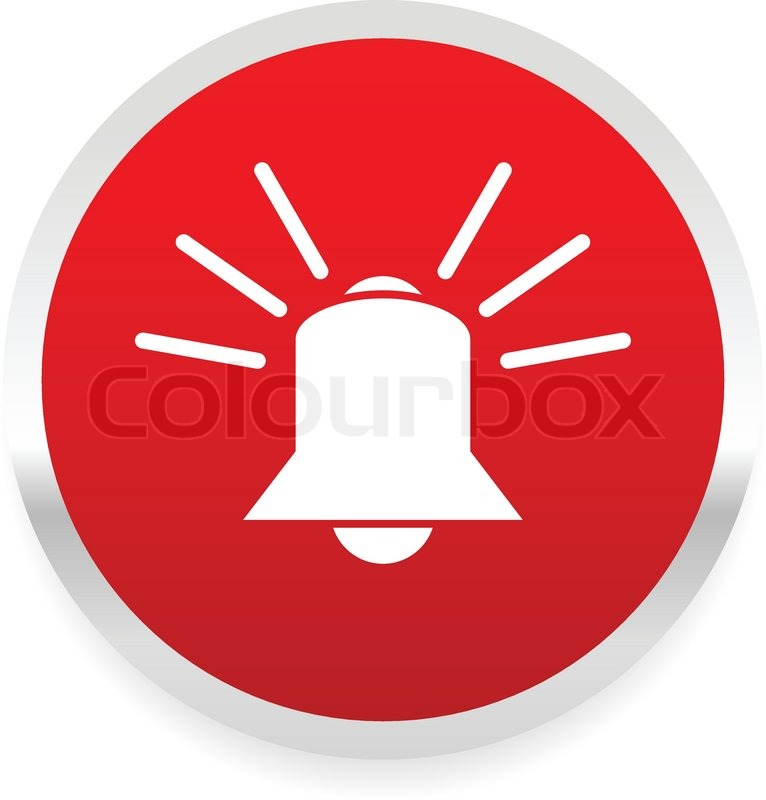 766x800 Ringing Bell. Alarm, Emergency, Siren, Security System Vector