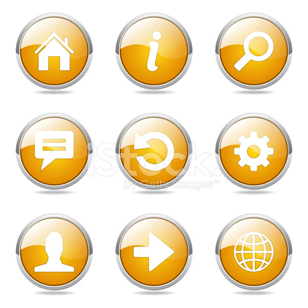 440x440 Web Internet Vector Amarillo Icon Set Stock Vector