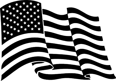 Vector American Flag Black And White