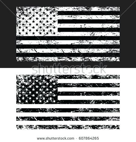 450x470 Distressed American Flag Grunge Flag Set Black And White Vector