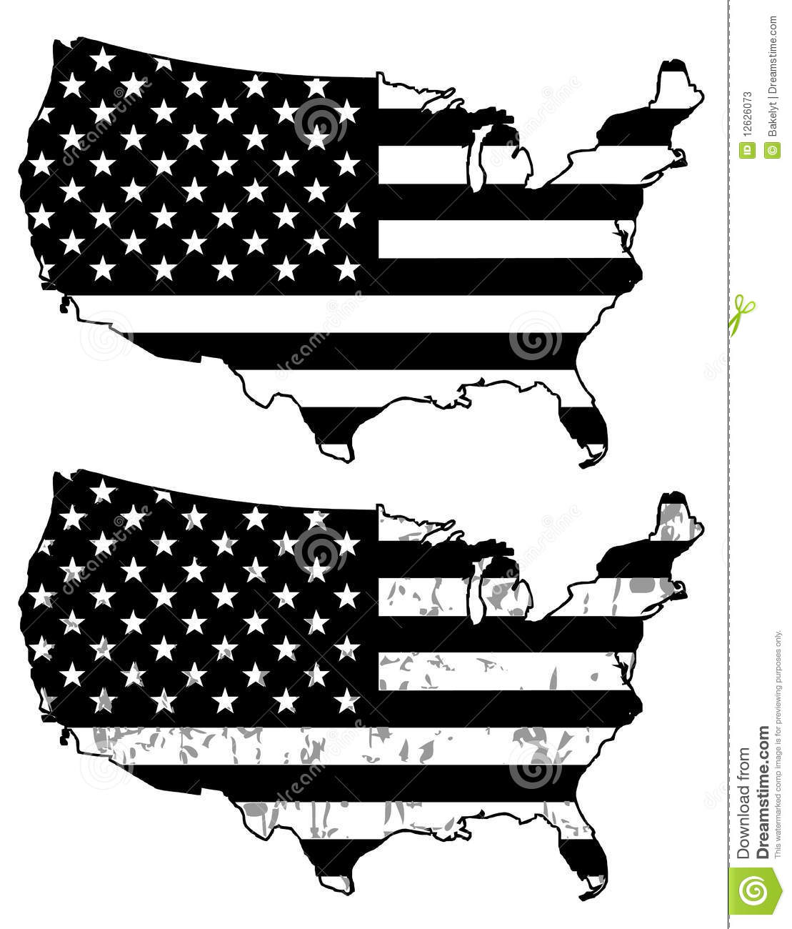 Vector American Flag Black And White At Getdrawings Free Download