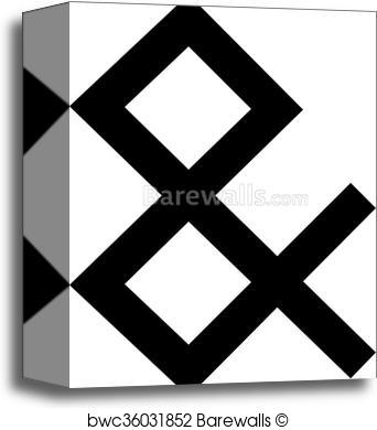 342x390 Canvas Print Of Ampersand Vector Icon Barewalls Posters Amp Prints