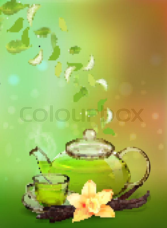 589x800 Vanilla Tea. Tea Advertising Flyer, Poster Or Banner Template