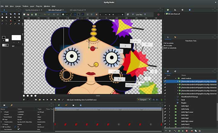 720x441 Free Amp Open Source, 2d Vector Based Animation Synfig Studio 1.0