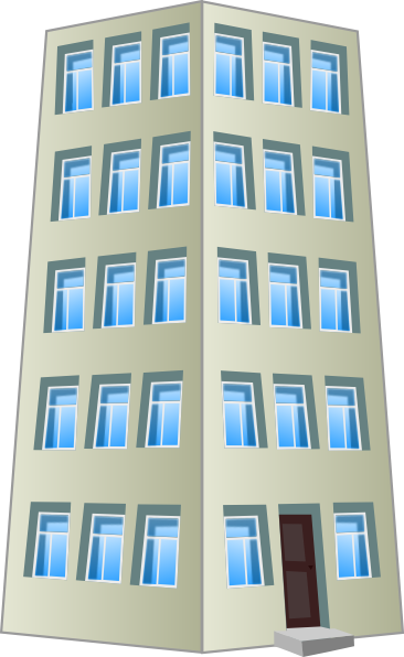 366x596 Collection Of Free Vector Apartments Clipart. Download On Ubisafe
