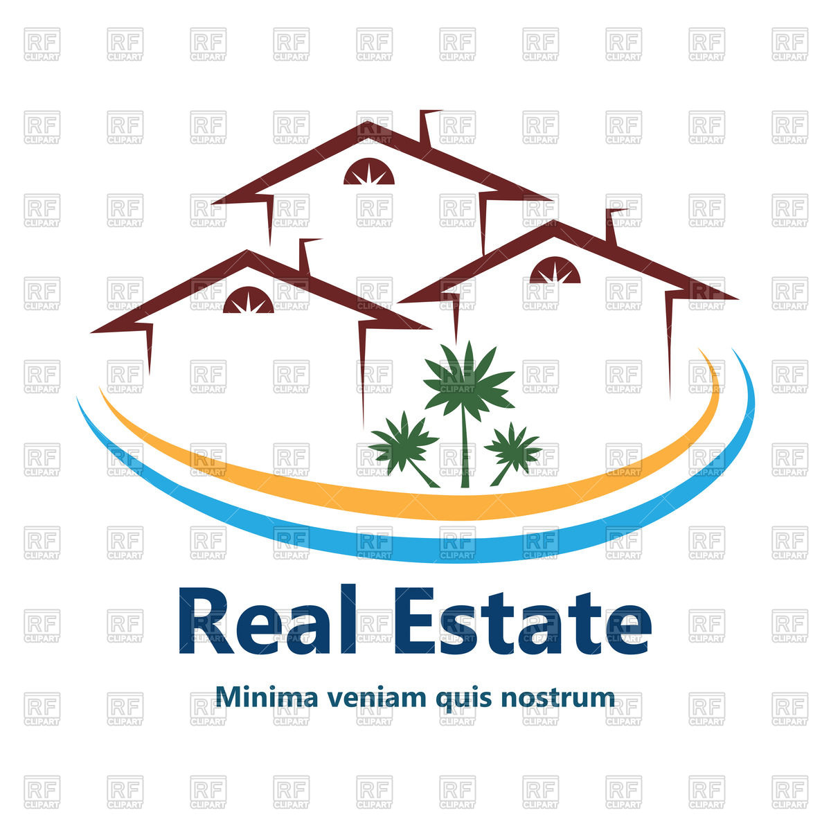 1200x1200 Outline Of House Or Apartments Icon For Real Estate Vector Image