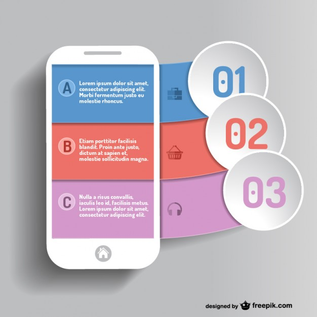 626x626 Mobile App Infographic Vector Free Download