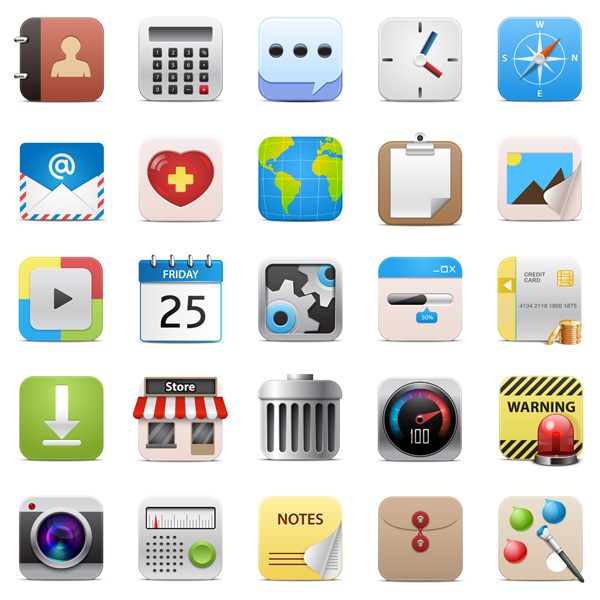 600x600 5 Free Vector Icons For Ios App