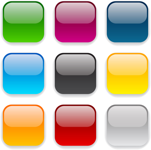 500x499 App Button Icons Colored Vector Set 17 Free Download