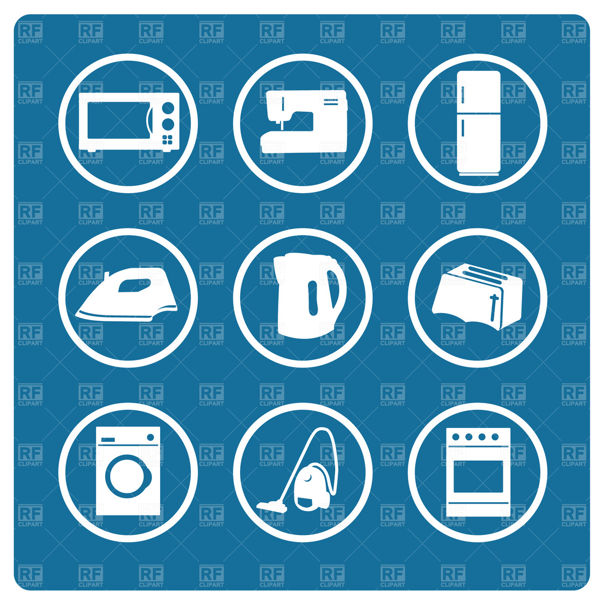 1200x1200 Home Appliance Icons Set Vector Image Vector Artwork Of