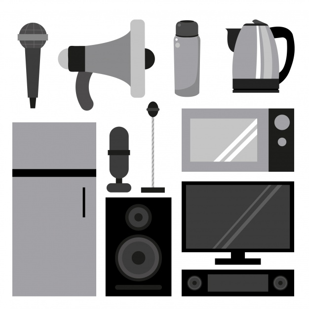 626x626 House Appliances Collection Vector Free Download