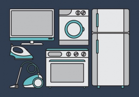285x200 House Appliances Free Vector Graphic Art Free Download (Found