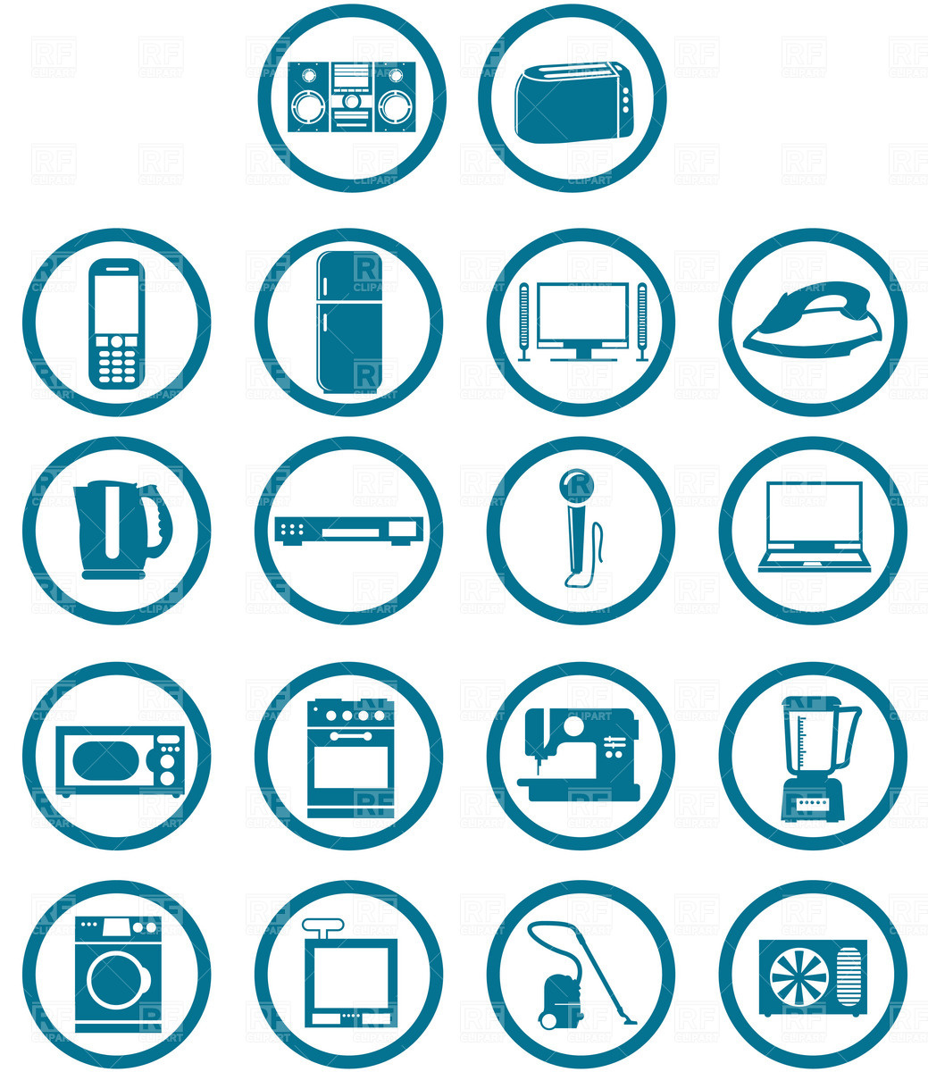 1039x1200 Household Appliances Icons Vector Image Vector Artwork Of